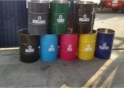 tambos para recolección de residuos