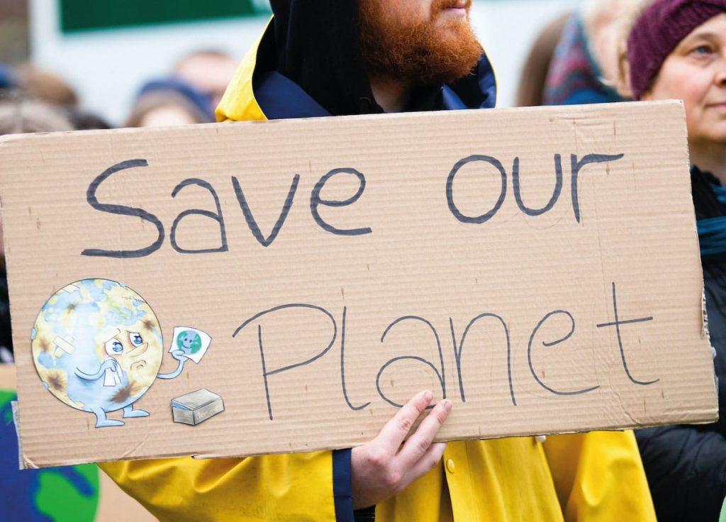Letrero salven el planeta