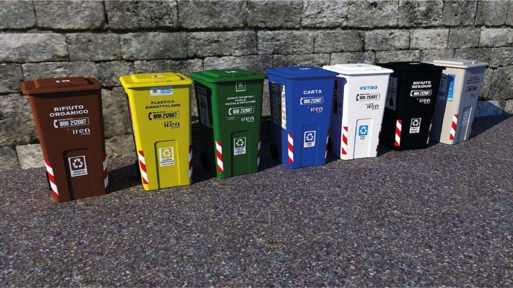 Contenedores de colores para administrar residuos